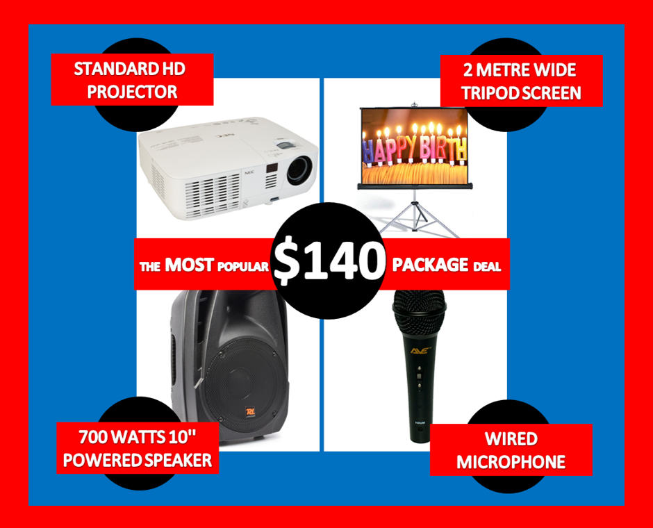 projector hire Melbourne 140 deal