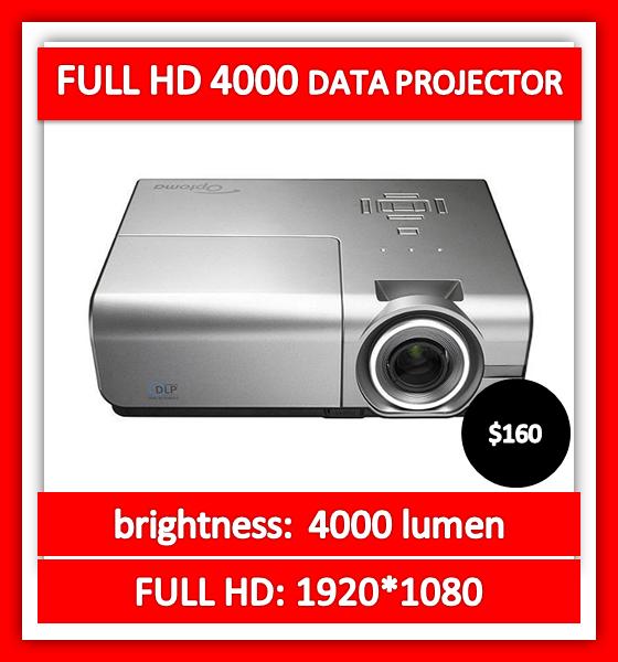 FULL-HD-4000-lumen-data-projector-hire
