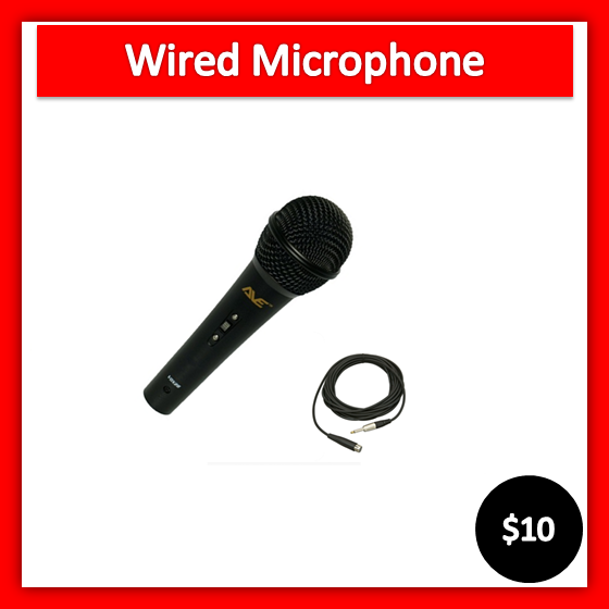 wired microphone hire Melbourne