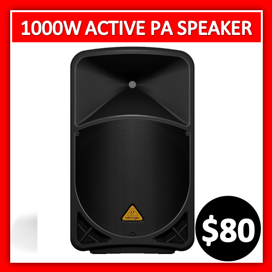 1000 watts active pa speaker system hire Melbourne