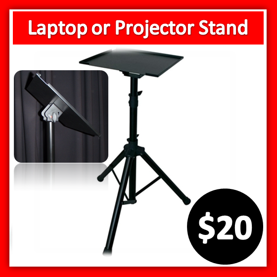 laptop or projector stand hire Melbourne