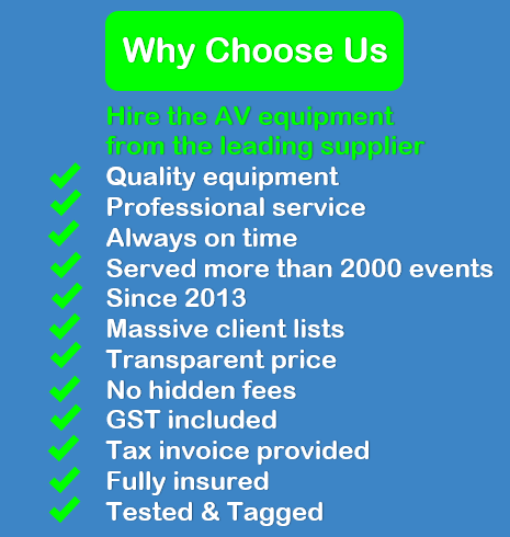 why choose projector hire Melbourne
